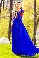 Длинное женское платье Фико электрик Jadone Fashion 42-50 размеры