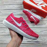 Женские Кроссовки Nike LunarEpic Low Flyknit Rose & White
