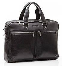 Практичная сумка-портфель мужская из кожи Blamont  Bn001A, черный