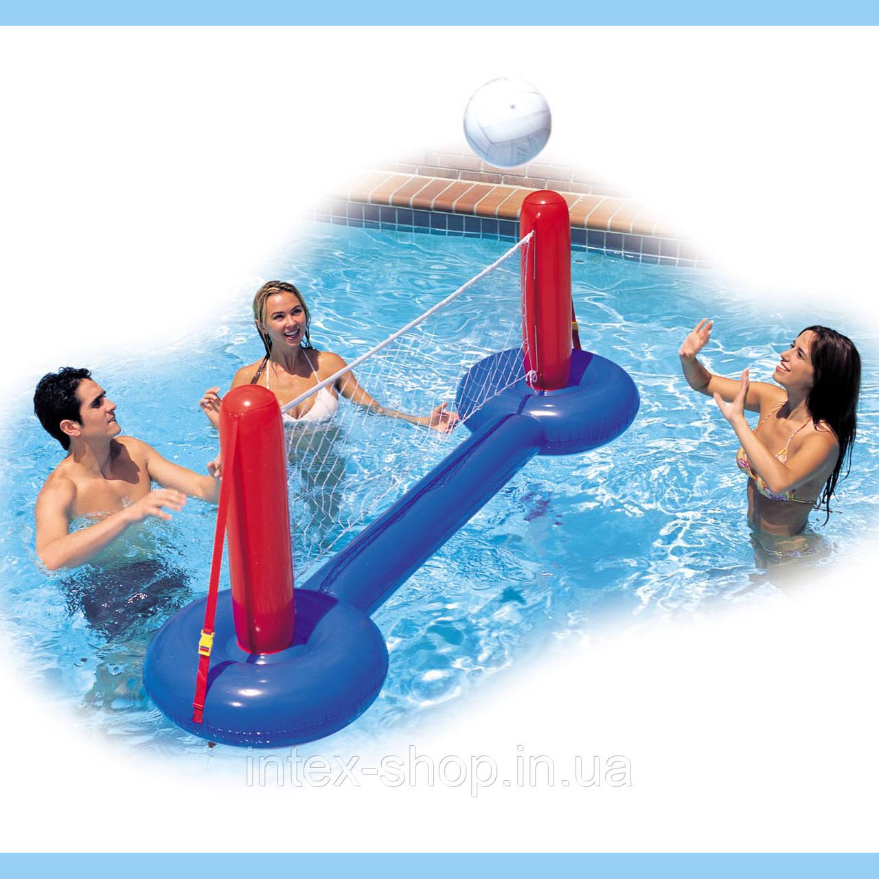 Надувной набор для водного волейбола с сеткой Intex 58502