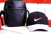 Кепка, бейсболка мужская, летняя, весенняя. Черный Nike