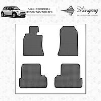 Комплект резиновых ковриков Stingray для автомобиля  MINI COOPER I 52 2001-     4шт.