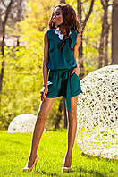 Летний женский комбинезон Джади изумруд Jadone Fashion 42-48 размеры