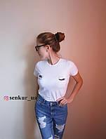 Стильная женская футболка с глазами