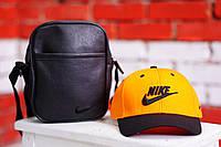 Кепка, бейсболка мужская, летняя, весенняя. Желтый+черный Nike
