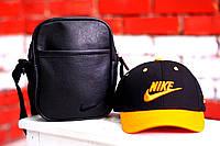 Кепка, бейсболка мужская, летняя, весенняя. черный+желтый Nike