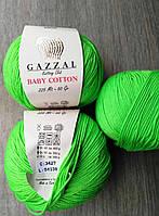Gazzal Baby Cotton - 3427 ярко-салатовый