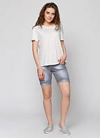 80010 Шорты джинсовые серые