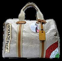 Женская летняя сумочка из искусственной кожи бежевого цвета PBG-221120, фото 1