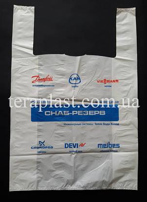 Пакет майка с логотипом     240+(70х2)450,20 мкм Печать 1 цвет, фото 2