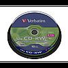 Диски verbatim cd-rw 700mb 12x cake 10 штук 43480 (43480)