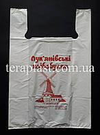 Пакет майка с логотипом 300+(80х2)500,20 мкм печать 1 цвет