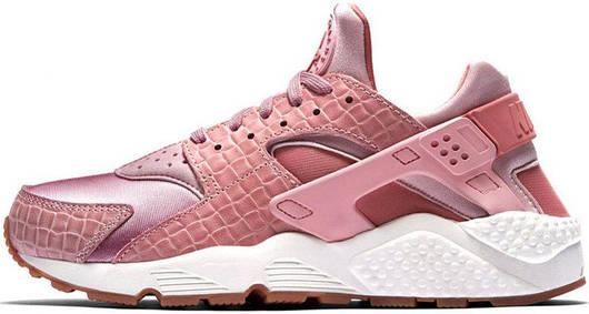Кроссовки женские Nike Air Huarache Run Premium Pink Glaze Pearl, найк хуарачи, реплика