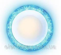 Светильник встраиваемый Bubble 6w 4000k белый с синей подсветкой 3w