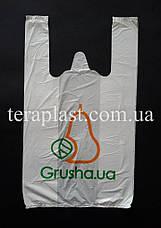 Пакет майка с логотипом 400+(90х2)600,20мкм Печать 1 цвет, фото 3