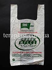 Пакет майка с логотипом 320+(80х2)550,20 мкм печать 1 цвет, фото 3