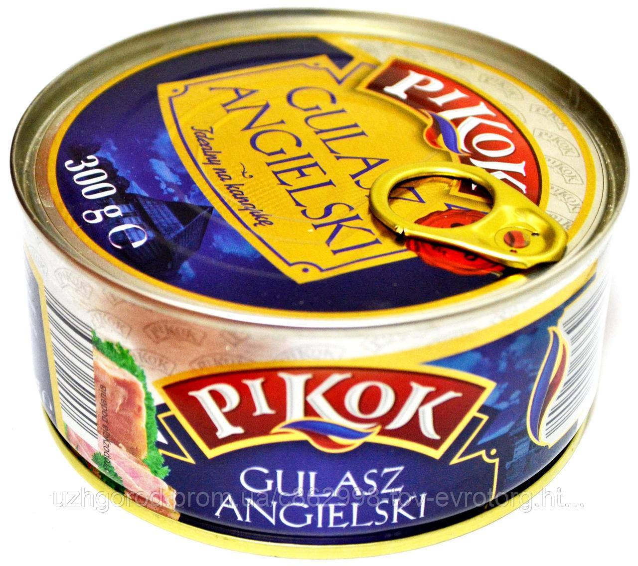 Английский гуляш - свинное мясо Pikok Gulasz Angielski 300g