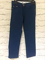 Штаны коттоновые темно - синие для мальчиков на рост 98-122