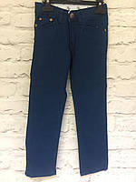 Штаны коттоновые темно -синие для мальчиков, подросток 128-152
