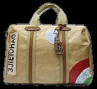 Женская летняя сумочка из искусственной кожи золотистого цвета PBG-221123