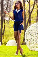 Летний женский темно-синий комбинезон Джади Jadone Fashion 42-48 размеры