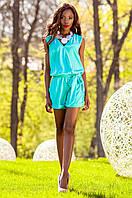 Летний женский бирюзовый комбинезон Джади Jadone Fashion 42-48 размеры