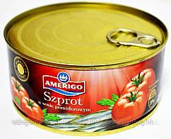 Шпроти в томате Amerigo Szprot w sosie pomidorowym 300h.