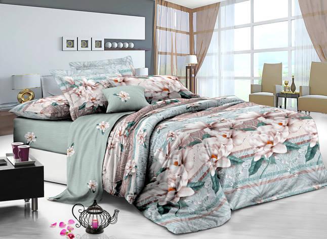 Полуторный комплект постельного белья 150*220 сатин (7226) TM KRISPOL Україна, фото 2