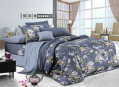 Полуторный комплект постельного белья 150*220 сатин (7228) TM KRISPOL Україна