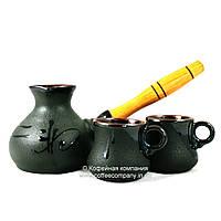 Кофейный набор турка маленькая 250мл чашки 2*100мл керамические Стандарт 9328