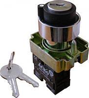 Кнопка поворотная 2-х позиционная с ключем XB2-BG21