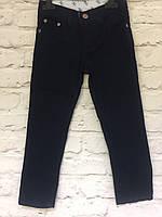 Штаны черные хлопок для мальчиков на рост 128-152