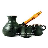 Кофейный набор турка средняя 350мл чашки 2*100мл керамические Стандарт 9329