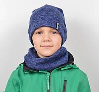 Подростковый набор шапка и хомут для мальчика