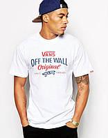 Мужская Футболка Vans Off The Wall белого цвета