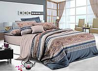 Двуспальный комплект постельного белья 180*220 сатин (7235) TM KRISPOL Украина