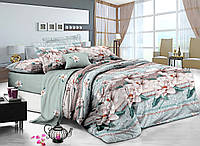 Двуспальный комплект постельного белья евро 200*220 сатин (7236) TM KRISPOL Украина
