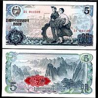 Корея Северная / Korea North 5 Won 1978 P19d UNC