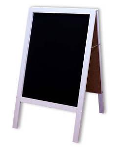 Штендер меловой 100х60 см, двухсторонний Белый