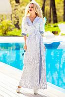 Длинное женское летнее платье Хилтон Jadone Fashion 42-50 размеры
