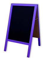 Штендер меловой 100х60 см, двухсторонний Фиолетовый