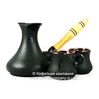 Кофейный набор турка восточная 300мл чашки 2*100мл керамические Стандарт 9332