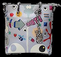 Женская сумка из искусственной кожи голубого цвета PVX-600322