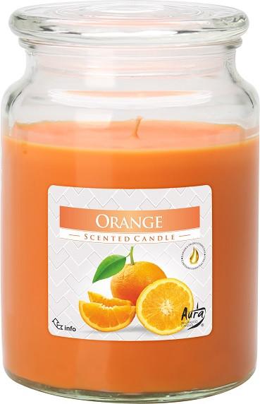Свеча ароматизированная Bispol Апельсин 14 см (snd99-63)