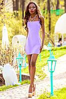Летнее сиреневое короткое платье Дона Jadone Fashion 42-48 размеры