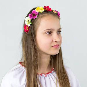 Веночек для волос Цветные цветочки