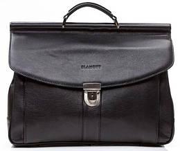 Черный стильный кожаный портфель, мужской BLAMONT Bn017A