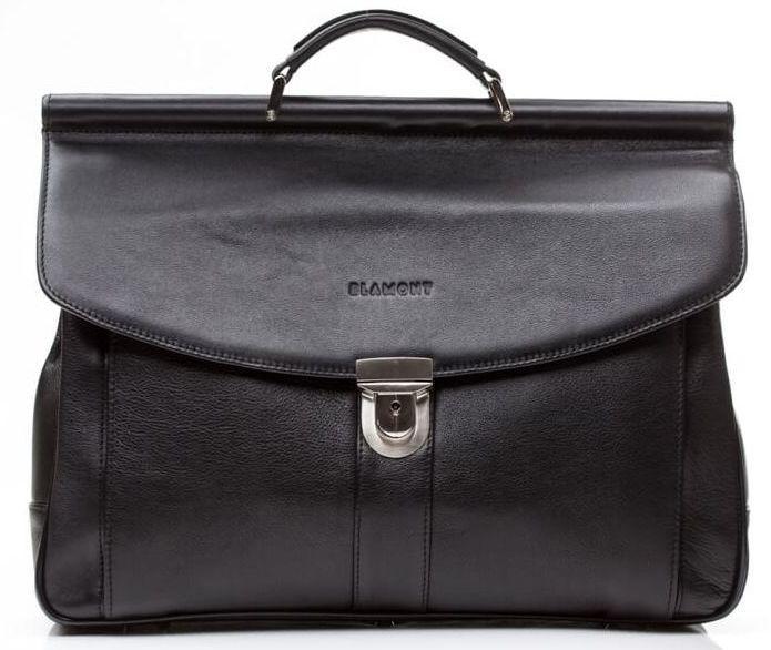88d86a606e8b Черный стильный кожаный портфель, мужской BLAMONT Bn017A - SUPERSUMKA  интернет магазин в Киеве