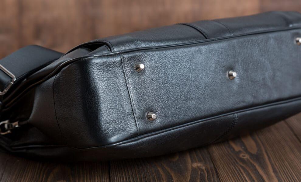 f466813580da Черный стильный кожаный портфель, мужской BLAMONT Bn017A , цена 4 450 грн.,  купить в Киеве — Prom.ua (ID#535075615)
