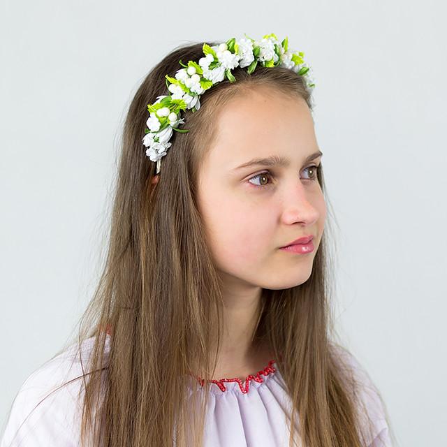 Веночек-обруч для волос Весенний